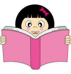 girl read vector image