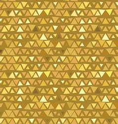 Golden Triangle seamless pattern yellow beige vector image vector image