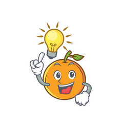 Have an idea orange fruit cartoon character vector