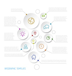 Infographic report poster with circles vector image