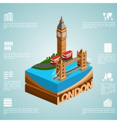Isometry city London vector image vector image