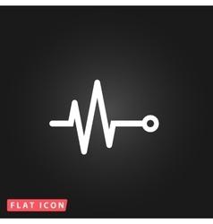 Life line - heart beat vector