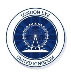London eye united kingdom graphic vector