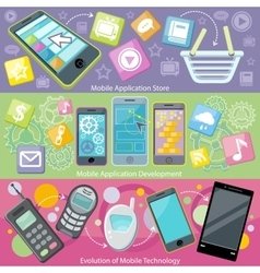 Mobile application store and development vector