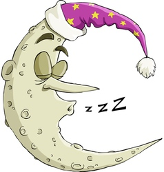 moon sleeping vector image