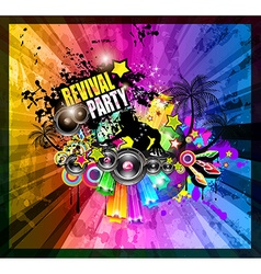 Party club flyer for music event vector