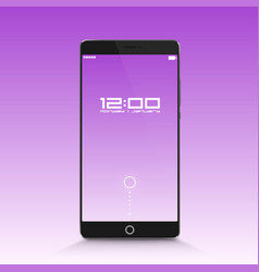 phone in standby mode vector image vector image