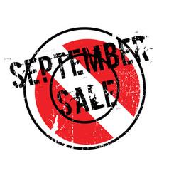 September sale rubber stamp vector