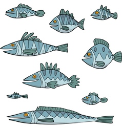 set of fish vector image vector image