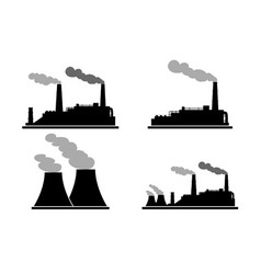 Set of industry manufactory building icons vector image vector image