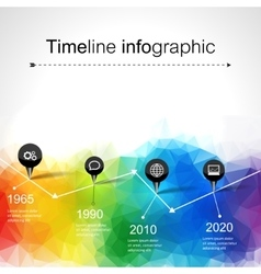 Timeline infographics elements and icons vector