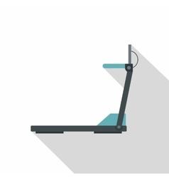 Treadmill icon flat style vector