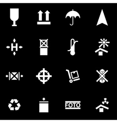 white marking of cargo icon set vector image vector image
