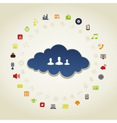Business a cloud vector image