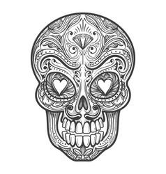 Sugar skull tattoo vector