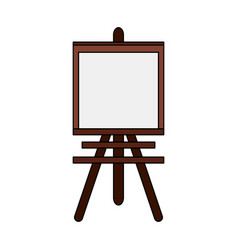 Color image cartoon wooden easel for drawing vector