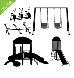Playground silhouettes vector image