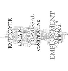 Employment law text background word cloud concept vector