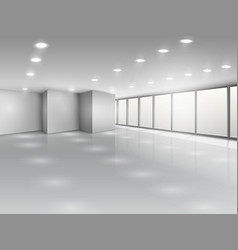 Light conference room or office open space vector