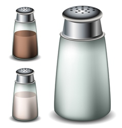 Salt and pepper shakers vector image