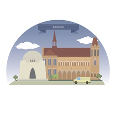 Karachi vector image
