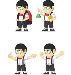 Nerd boy customizable mascot 9 vector