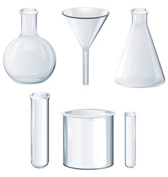 Different laboratory equipments vector