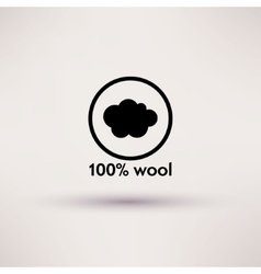 Icon of 100 wool isolated vector