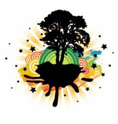 fantasy island vector image