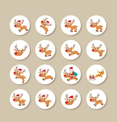 Reindeer icons vector
