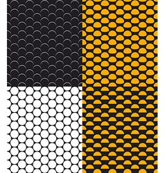Set of abstract dotted seamless pattern vector