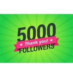 5000 followers vector image vector image