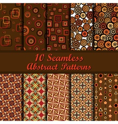Abstract patterns set vector