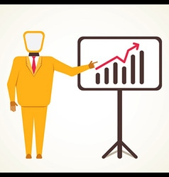 Men present business growth graph concept vector