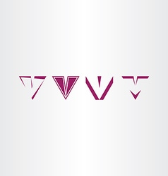Letter v icon sign v set collection logo vector
