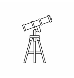 Telescope icon in outline style vector