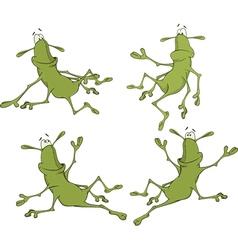 A set of cockroaches cartoon vector image vector image