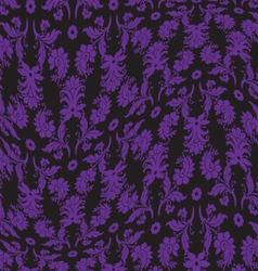 Black violet warped damask pattern vector