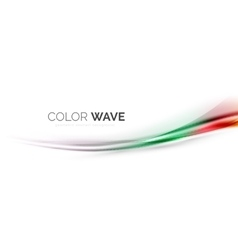 Color wave element vector image vector image