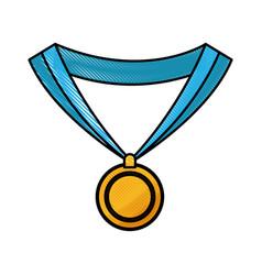 Drawing medal award win sport image vector