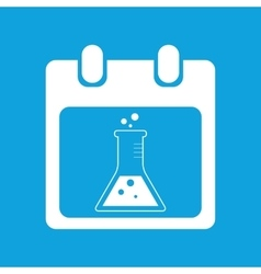 Experiment schedule icon simple vector