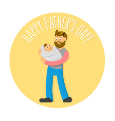 Father s day with hipster-style vector