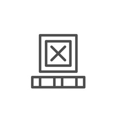 Freight box line icon vector