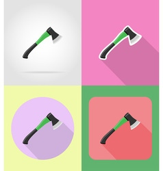 garden tools flat icons 05 vector image vector image