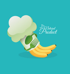 healthy food natural product design vector image