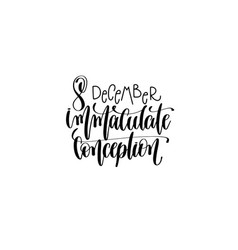 immaculate conception hand lettering vector image vector image