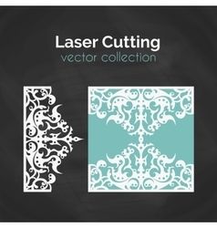 Laser Cut Card Template For Laser Cutting Cutout vector image