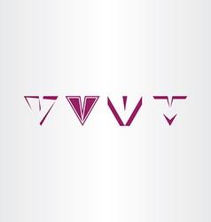 letter v icon sign v set collection logo vector image vector image