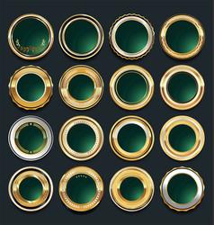 luxury golden design elements collection 9 vector image vector image