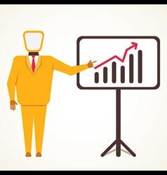 Men present business growth graph concept vector